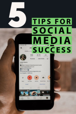 5 TIps on social media succes Pinterest